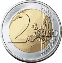2 Euro Coin, price of backpacking in europe