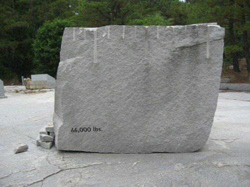 33 Ton Block of Granite!, stone mountain