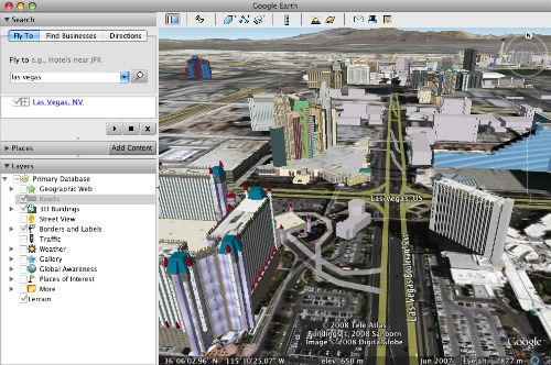 3D Buildings, satellite imagery