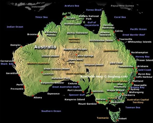 Backpacking Australia Map