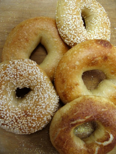 Bagels, backpacking menu