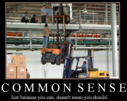 Common Sense, backpacking for dummies