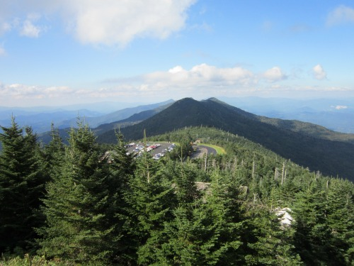 Cratered Mountain Next to Mount Mitchell, mount mitchell state park