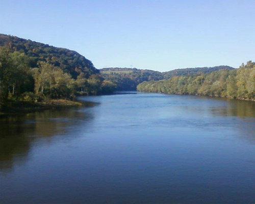 Delaware River From Bridge, Sunfish Pond