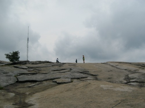 Dolores Walking Up Stone Mountain