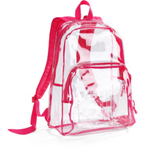 Eastport Clear Backpack Red, back packs