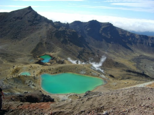 The Emerald Lakes, backpacks backpacking