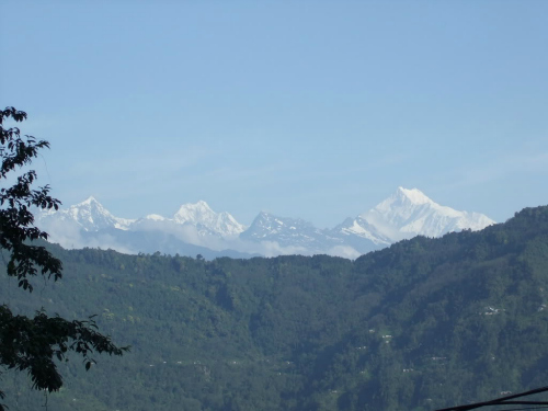 View Of Kanchenjunga Range From Gangtok, backpacking in india
