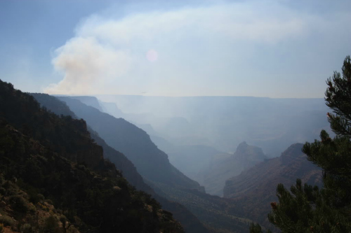 Grand Canyon Controlled Burn, day backpacks