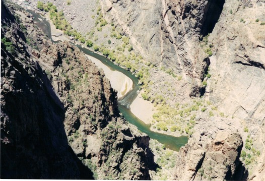 Gunnison River From Above, black canyon of the gunnison, backpacking light