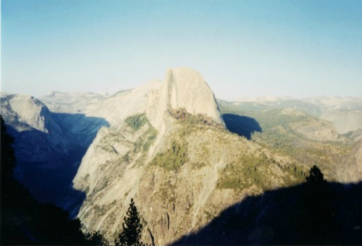 Half Dome from Glacier Point, yosemite backpacking