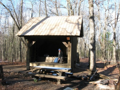 Hawk Mountain Shelter, springer mountain