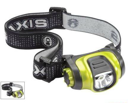 A Headlamp, day backpacks