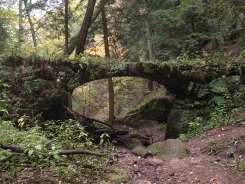Stone Bridge In Hocking Hills Region, ohio backpacking