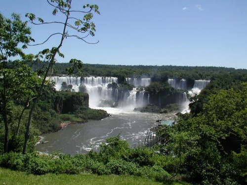 Iguazu National Park, backpacking around south america