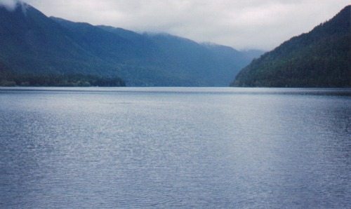 Lake Crescent on my way to the Rain Forest, olympic national park