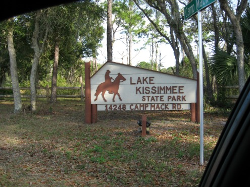 Lake Kissimmee State Park Entrance