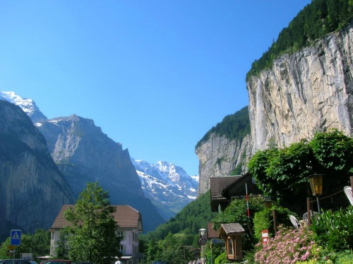 Lauterbrunnen and Staubbach Falls, Switzerland, Backpack Europe