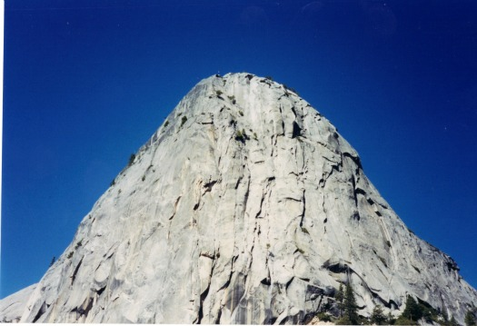 Liberty Cap from Nevada Fall, yosemite backpacking