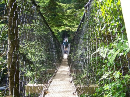 Cross Gorges - Logan Creek Suspension Bridge, West Coast Trail Backpacking