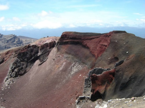 Red Crater, backpacks backpacking