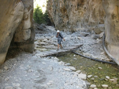 Samaria Gorge In Greece, travel backpack