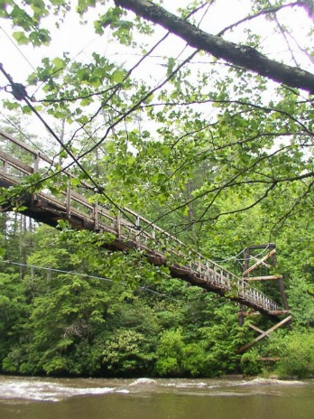 Swinging Bridge On The Benton MacKaye Trail, springer mountain