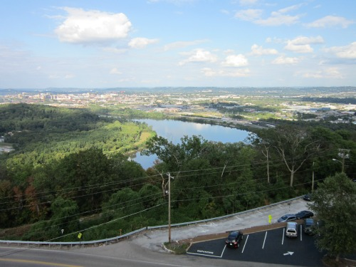 Tennessee River and the City of Chattanooga, ruby falls