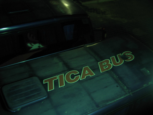 Ticabus, backpacking central america