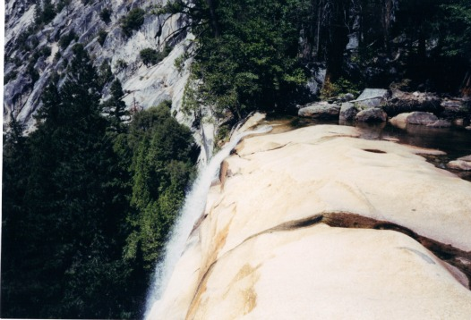 Top of Vernal Fall, yosemite backpacking