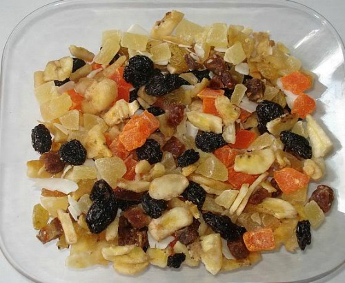 Tropical Fruit Trail Mix, backpacking menu