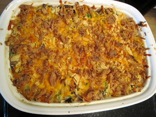 Tuna Noodle Casserole, homemade backpacking food