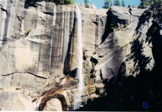 Vernal Fall, yosemite backpacking