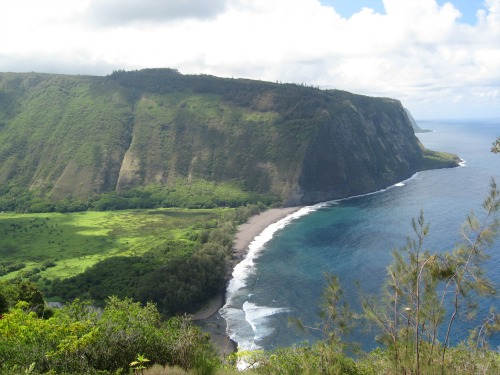 Waipio Valley Overlook, travel backpack