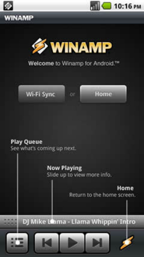 Winamp, Android Applications