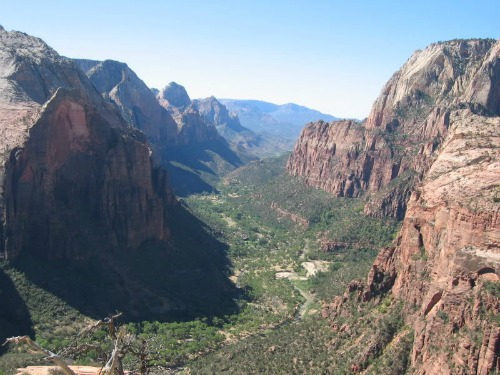 Zion Canyon View From Angels Landing, zion national park